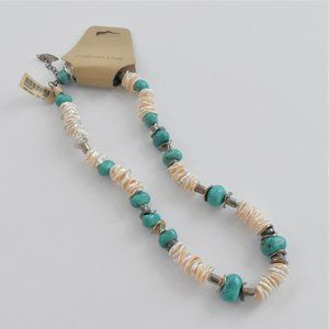 Coldwater Creek Stacked Cultured Pearl Necklace